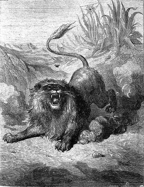 Très Fables de La Fontaine : Le Lion et le Moucheron GC47