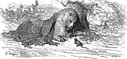 Fables de la fontaine le lion et le rat - Image le lion et le rat ...