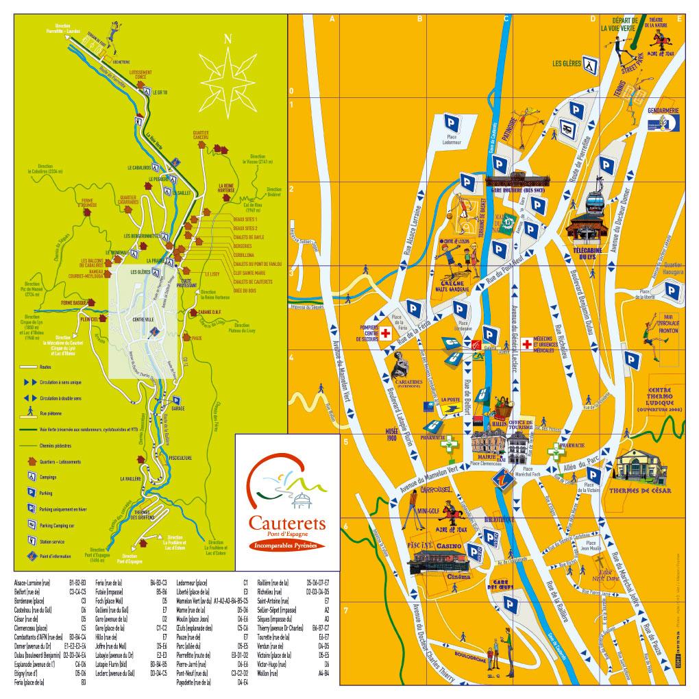 Plans brochures de villes et villages des hautes pyr n es for Plan 65